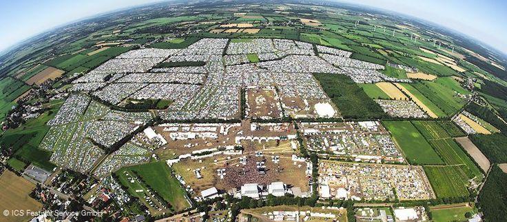 Das Wacken Open Air Festivalgelände