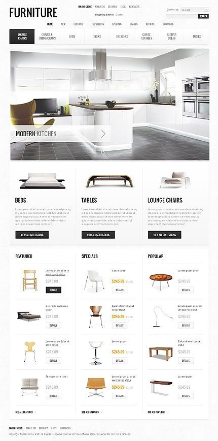 Modern Furniture Website Design Collection. = = = FREE CONSULTATION! Get similar web design service @ http://www.smallstereo.com/