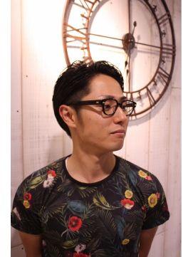 【2016年冬トレンド】メンズ・黒髪ツーブロック/HAIR MAKE KANN+f【カン プラスエフ】のヘアスタイル