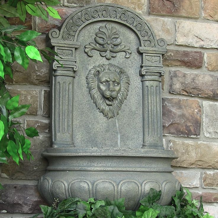 imperial lion outdoor wall floor fountain 3 color choices at sacmac jetty