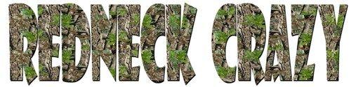 Camouflage Redneck Crazy Vinyl Decal Sticker Camo Automobile Vehicle | LilBitOLove - Housewares on ArtFire