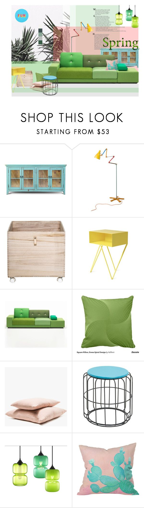 """""""Spring is coming..."""" by laste-co ❤ liked on Polyvore featuring interior, interiors, interior design, home, home decor, interior decorating, Tsé & Tsé, Bloomingville, Vitra and Hawkins"""