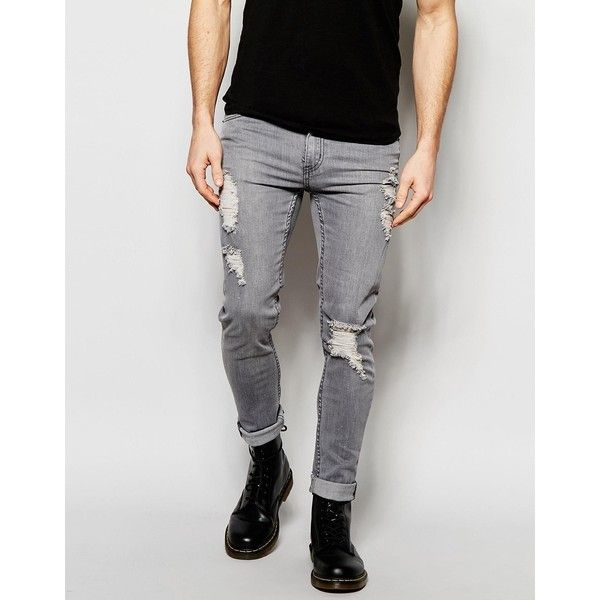 17  ideas about Grey Ripped Jeans Mens on Pinterest | Grey crop ...