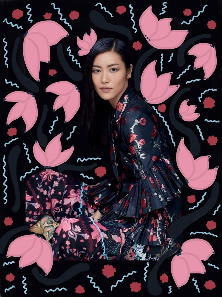 • Liu Wen for T Magazine Singapore Photographed by Russell James • collage by Nor Laura