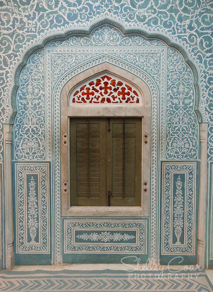 Samode Palace, India. Inside window of Samode Palace. Beautiful! www.shelleycoar.com