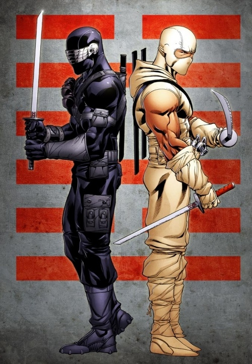 Snake Eyes and Storm Shadow by Robert Atkins and Simon Gough