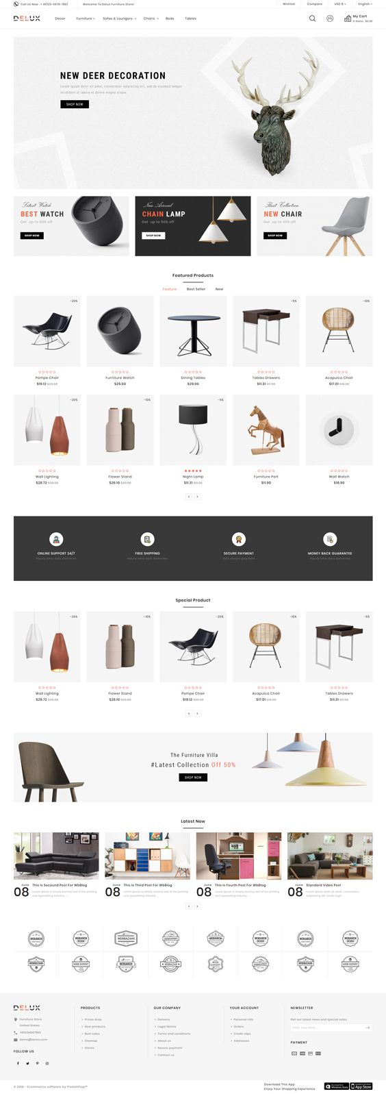 Delux – The Furniture Shop Template