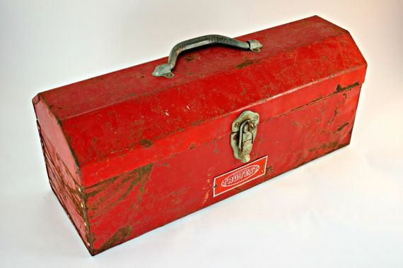 Free Shipping, Toolbox, Tool Box, Red Toolbox, Red Tool Box, Metal Tool Box, Metal Toolbox, Tru Test Tool Box,  Industrial Toolbox