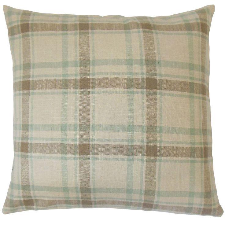Quinlan Plaid Cotton Throw Pillow