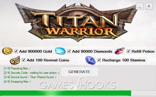 Titan Warrior Hack   Games Hooks