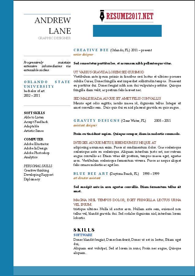 Chronological-resume-template-2017-4.jpg (637×900)