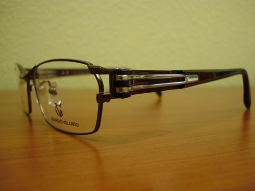 Georgio Volando Ultra Lite Men's Titanium Eyeglass Frame w/ TR temple G13121-58,Elegant & Stylish