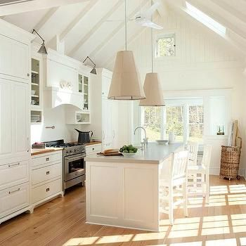 Cottage Kitchen with Gray Concrete Countertops