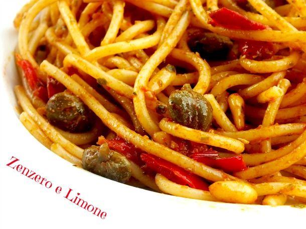 spaghetti con pomodorini e pinoli   Zenzero e Limone