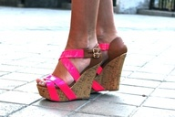 Hot Pink Wedges...so cute...i want them!