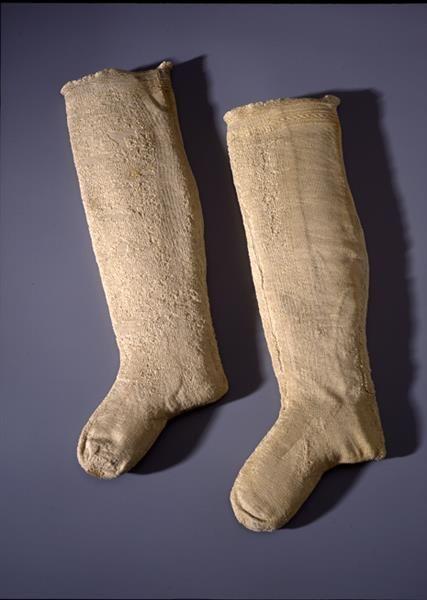 1548 pair of hose. Paar Strümpfe / Bräutigamskleid bestehend aus Schaube, Wams, Hose, Paar Strümpfen