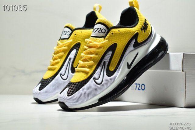 Nike Air Max 720 Black White Yellow Men