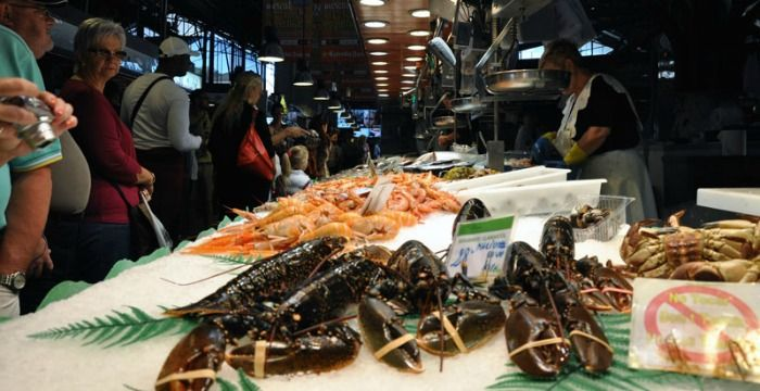 A Fish Stall at Mercat de la Boqueria