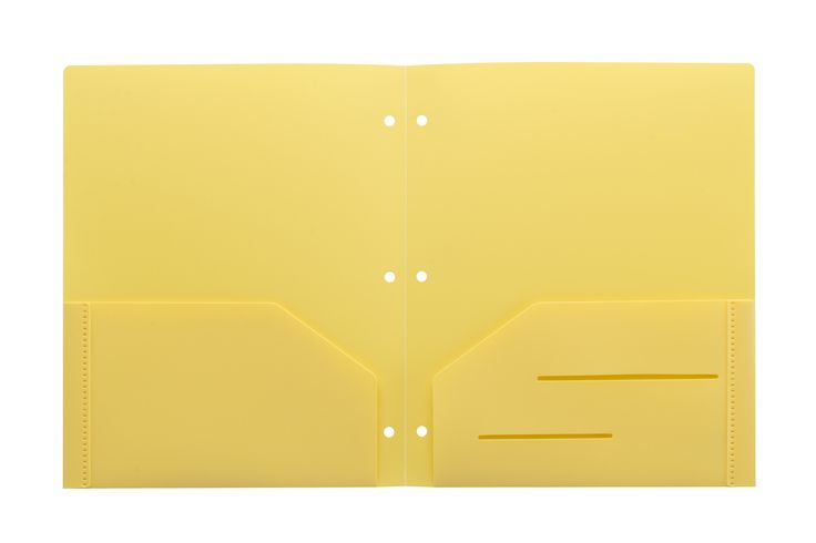 Yellow Heavy Duty 3 Punch Holes Plastic Folder  #WorkColorfully #Stemsfx