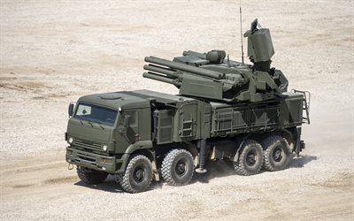 壁紙をダウンロードする pantsir-s1, kamaz, 軍装備品, sa-22