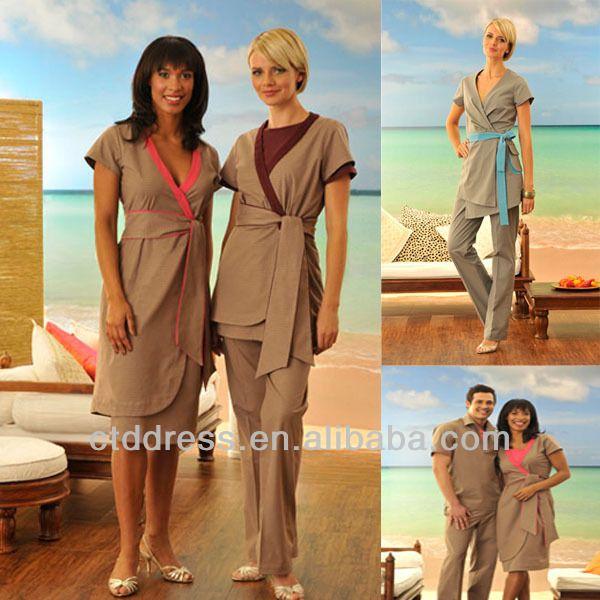 Spa uniform spa staff wear tunics buy spa uniform spa for Spa worker uniform