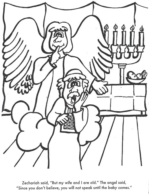 Zechariah And Elizabeth Bible coloring
