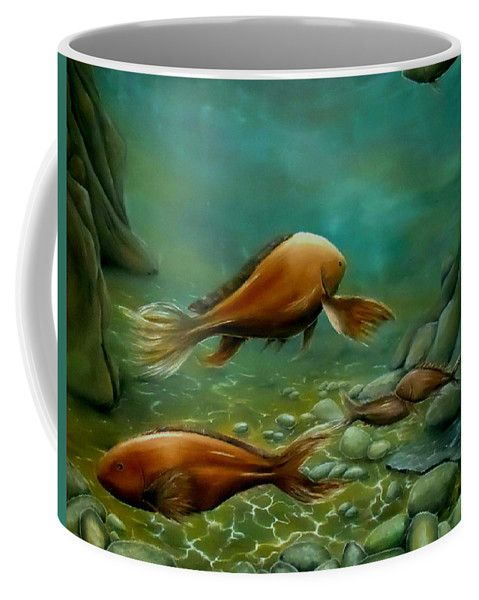 Coffee Mug,  home,kitchen,accessories,cool,beautiful,fancy,unique,trendy,artistic,awesome,fahionable,unusual,gifts,presents,for,sale,design,ideas,green,fish,underwater,deep,sea,ocean,reefs,saltwater