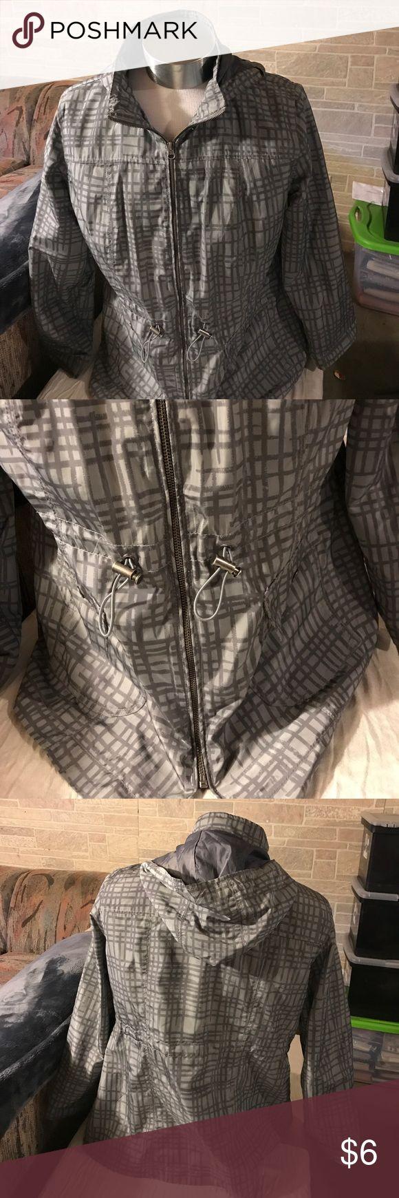 Women's rain jacket Light and dark gray Ava & Viv Jackets & Coats