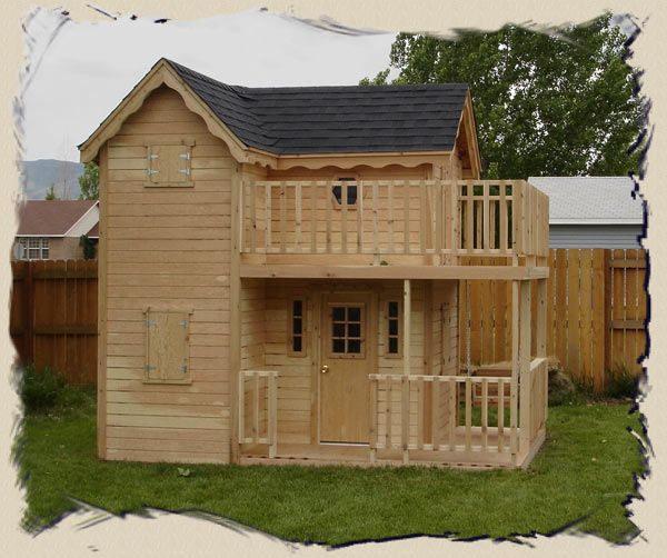 Playhouse plans with lofts woodworking projects plans for Plans for childrens playhouse