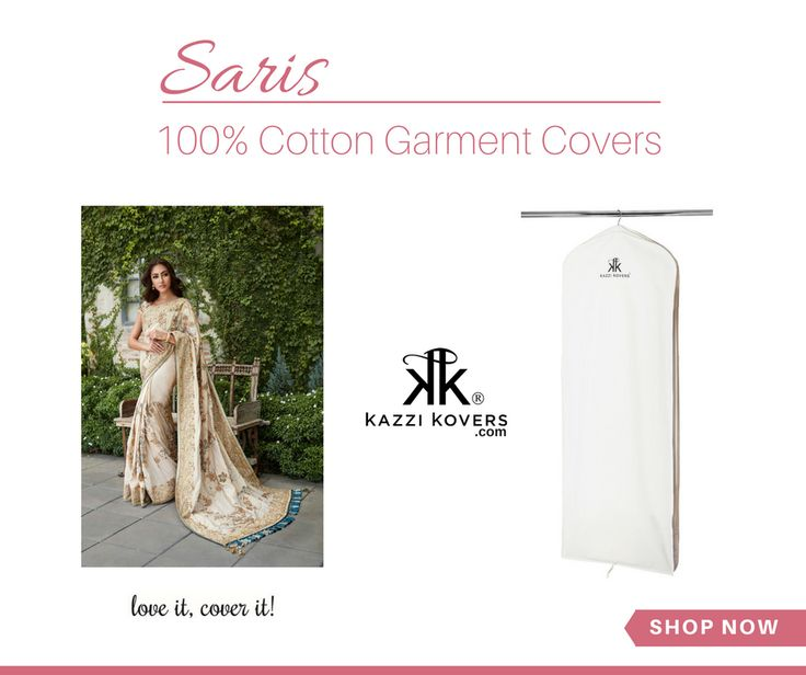 Protect your saris in 100% Cotton Garment Bags. Spacious. Breathable and lightweight. Fits up to 3 garments.