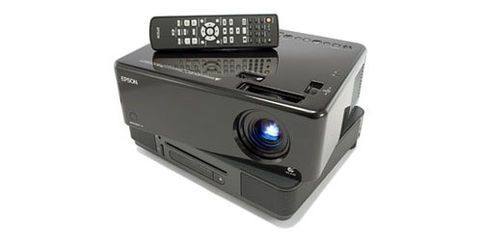 "This is the ""All in One"" - Our Epson Movie-mate unit combines a projector, DVD player, and speakers into one unit. Perfect for backyard movies, DVD slideshows, or presentations."