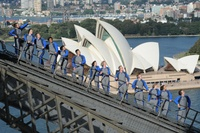 Sydney Bridge Climb one the coolest things to do in Sydney. Definitely a once in a lifetime experience.