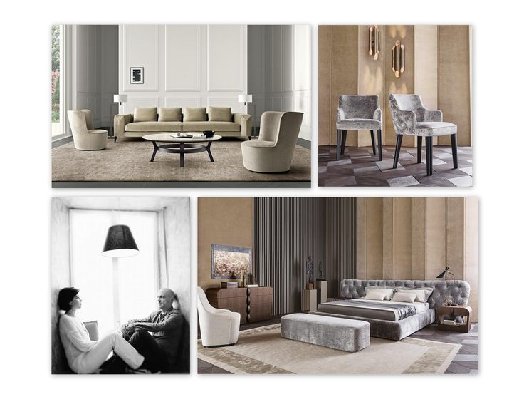 FOCUS ON: Alessandro Castello & Maria Antonietta Lagravinese, designers for Casamilano home collection. Clockwise: Royale chair, Royale bed with tufted headboard, Hamptons sofa, Baby Royale armchairs. More on www.casamilanohome.com
