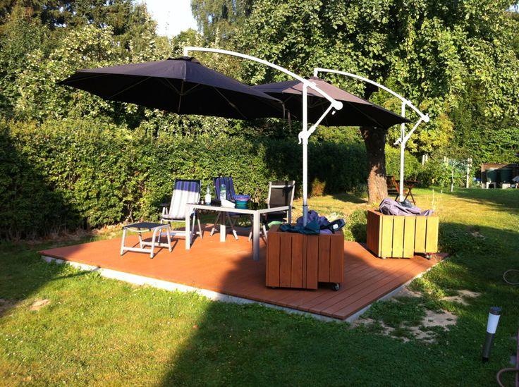 mobiler Sonnenschirmständer Bauanleitung zum selber bauen