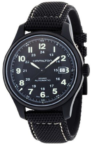 Hamilton Men's Titanium Khaki Field Black Dial Watch