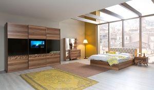 inegöl Sedef Televizyonlu Yatak Odası