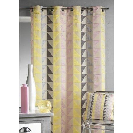 17 meilleures id es propos de rideaux g om triques sur pinterest rideaux rideaux de salon. Black Bedroom Furniture Sets. Home Design Ideas