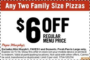 Papa Murphy's Pizza Coupons!