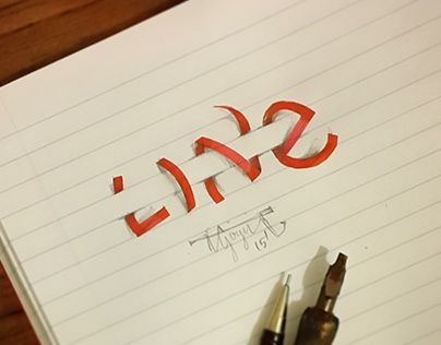"Auf @Behance habe ich dieses Projekt gefunden: ""3D Lettering with Calligraphy Pens&Pencil - Part 5"" https://www.behance.net/gallery/27124737/3D-Lettering-with-Calligraphy-Pens-Pencil-Part-5"