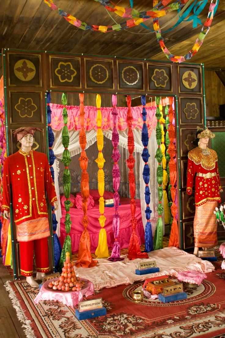 Traditional wedding costumes at Rumah Adat Belitong