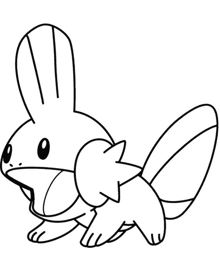 mudkip coloring pages - photo#5