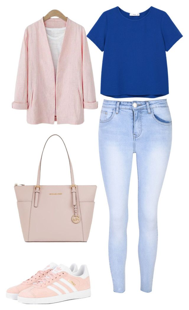 """Untitled #104"" by nellanm on Polyvore featuring Glamorous, MANGO, adidas Originals and MICHAEL Michael Kors"