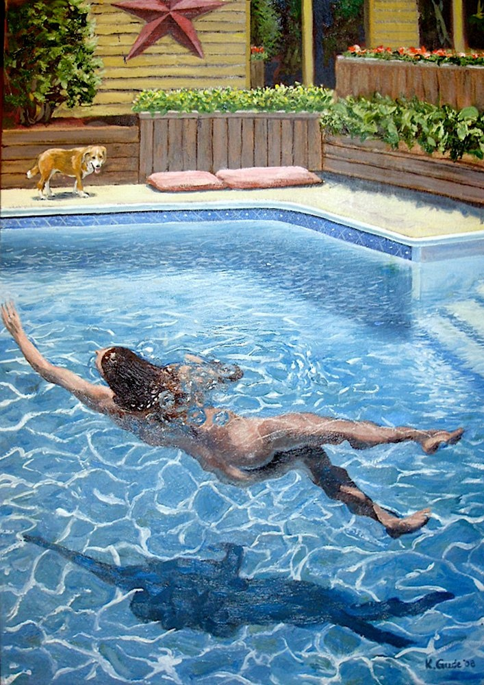 Sold My Painting Quot Skinny Dip Quot By Karl Gude Outdoor
