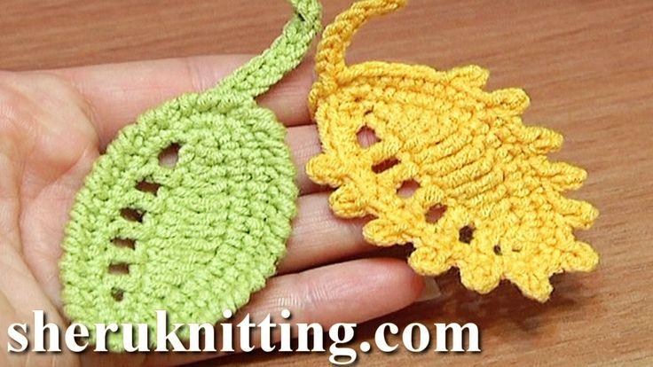 Crochet Leaf Rain Drops Tutorial 27 Reverse Single Crochet Trim Picot Trim