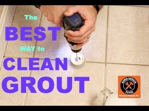 The Best Way To Clean Grout Ever Brushes Tile And Grout