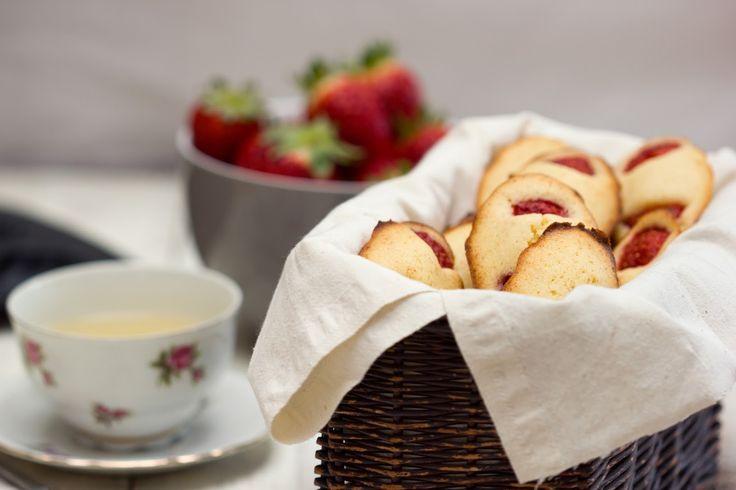 Recette de madeleines aux fraises