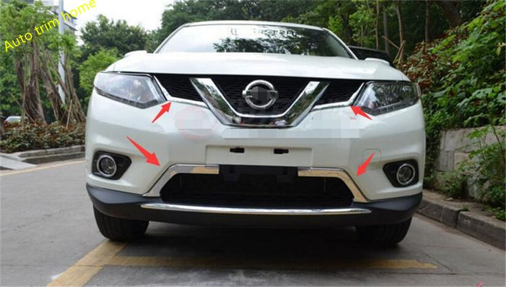 New ! 4 pcs For Nissan X-Trail 2014 2015 2016 / Rogue 2014 2015 2016 Chrome Front Grille Grill Cover Trim #Affiliate