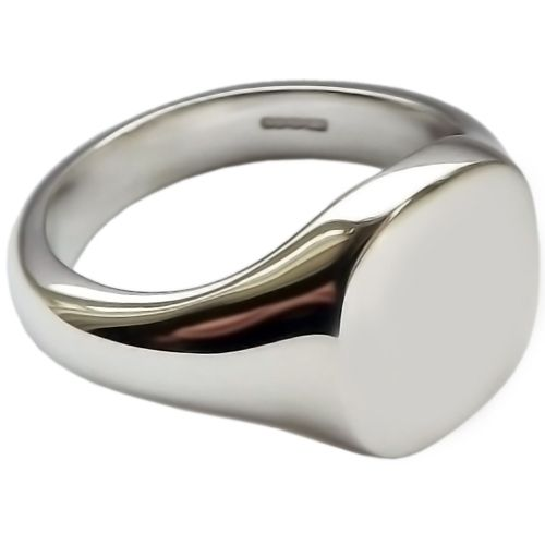 ladies sterling silver cushion signet ring 14 grams
