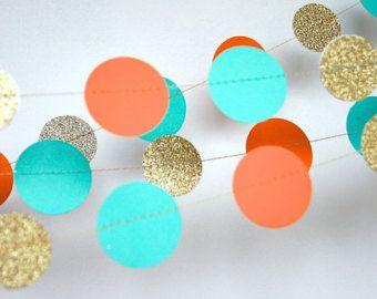 Guirnalda guirnalda de papel en Blush color por TheLittleThingsEV