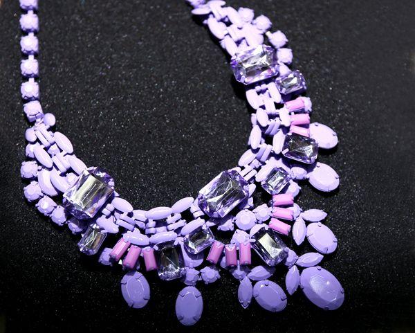 высокое качество! Макарон цвет 14ss краска камень ожерелье ручной работы моде ожерелье неоновые цвета драгоценных женщин короткий ожерелье US $19.90